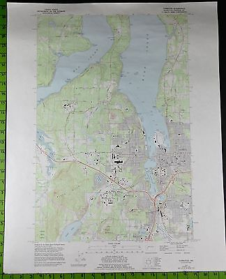 Tumwater Olympia Washington 1994 Topographic Map 22x27 Inches
