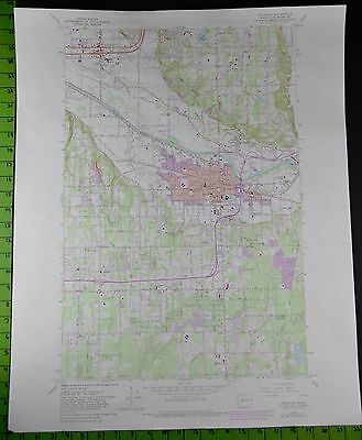 Puyallup Washington 1981 Topographic Map 22x27 Inches
