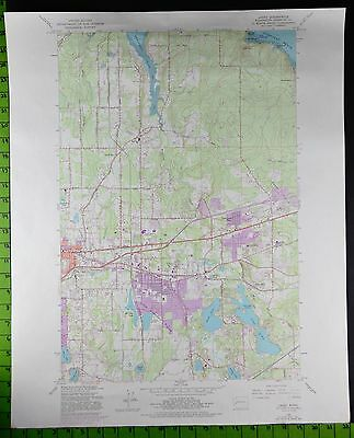 Lacey Olympia Washington 1981 Topographic Map 22x27 Inches