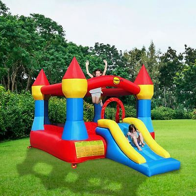 Kids Inflatable Bouncy Castle With Childrens Slide,outdoor Garden Castle Toys
