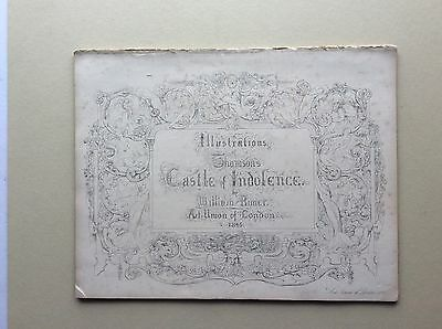 CASTLE of INDOLENCE - folio of engravings by W Rimer 1845. text by James Thomson