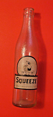 Vintage Squeeze Soda Pop Advertising Bottle ~ See All Our Bottles ~ New Orleans