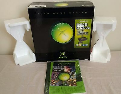 Original XBox Empty Box Packaging + Sealed Instruction Booklet + Inserts
