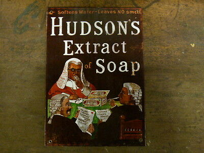 Reproduction Vintage Metal Advertising Sign: Hudson's Extract Of Soap