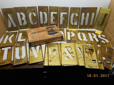 Reese's Interlocking Adjustable Brass Stencils 3 in. Letters Only Original Box