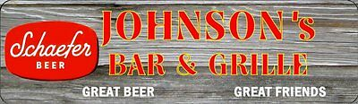 Personalized W/Your Name Schaefer Beer Signs Tavern Bar Grill Barn BG