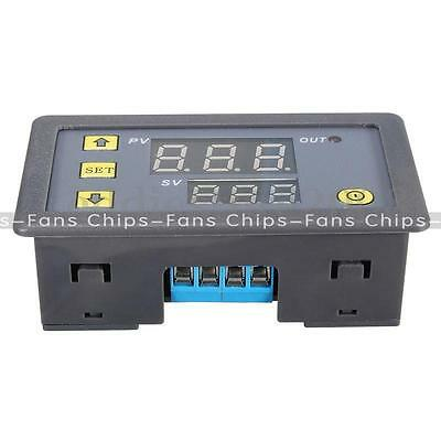 12V Cycle Timer Delay 0-999 hours/minutes/seconds Dual Display Relay Thermostat