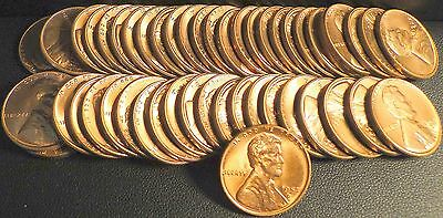 Nice Roll of Uncirculated 1957-D Lincoln Wheat Cents