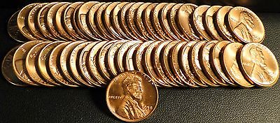 Nice Roll of Uncirculated 1958-D Lincoln Wheat Cents (2)