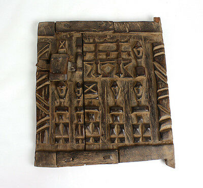 "Wooden Dogon Window/Door - 11"" X 7"" Free shipping new"