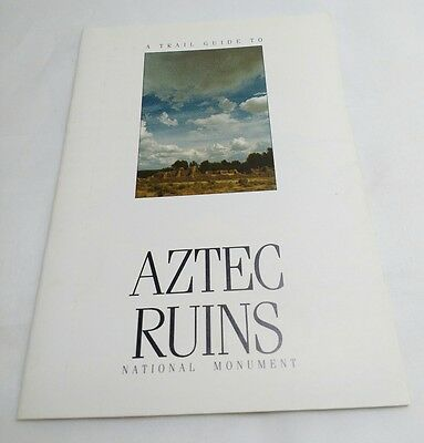 Aztec Ruins Vintage Trail Guide Booklet 80's New Mexico SWPA