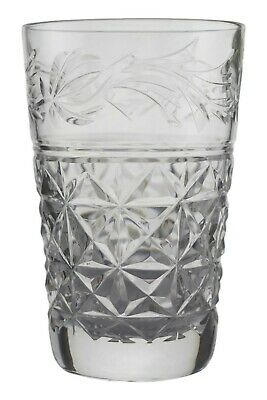 "STUART Crystal - MANSFIELD Cut - Juice Tumbler Glass / Glasses - 3 1/2"" (1st)"