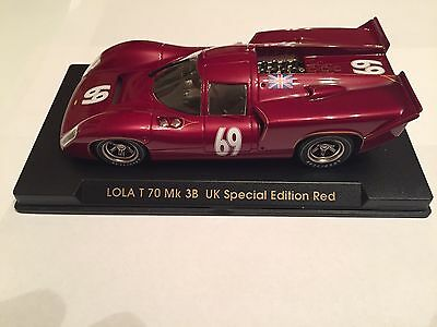 Fly Lola T70 3B UK SPECIAL EDITION 1/32 Slot Car In Mint Condition