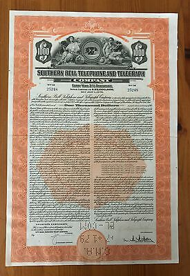 1939 Southern Bell Telephone And Telegraph Co. Gold Bond Ny