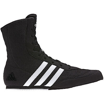 adidas Box Hog Boxing Trainer Shoe Boot Black / White