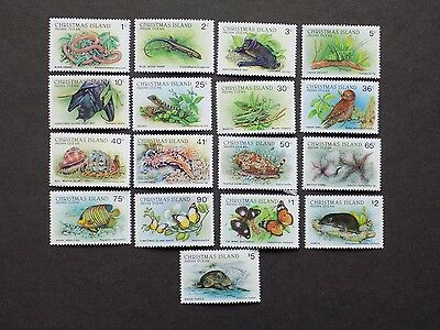 (17) mnh Christmas Island Stamps off paper Scott# 196-211-Wildlife-We comb. ship