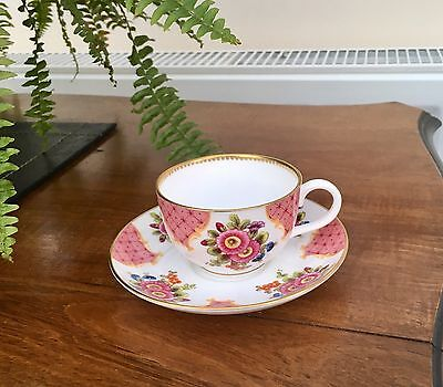 ROYAL WORCESTER Cabinet Cup And Saucer 'Worcester Flowers'