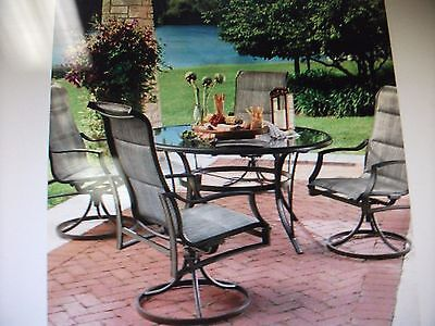 Hampton Bay Statesville 5 Piece Padded Sling Patio Dining Set Lpu