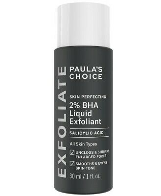 Paula's Choice Skin Perfecting 2% BHA Liquid Salicylic Acid Exfoliant New 30ml