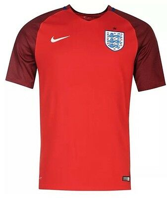 England Away Football Shirt 2016 Red New With Tags Medium (newest Shirt)