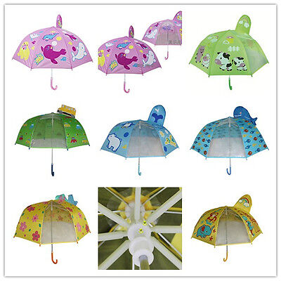 60psc Wholesale Safe Animal Kid Children Umbrella 1pc Clear Cartoon Boys Girls