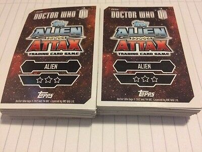 Bundle Of 82 Dr Who Alien Attack Trading Cards