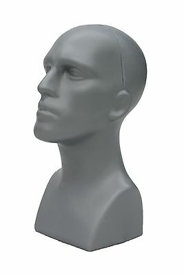 2 Pcs Abstract Male mannequin head Light weight style Display #PS-M-GY-2pcs