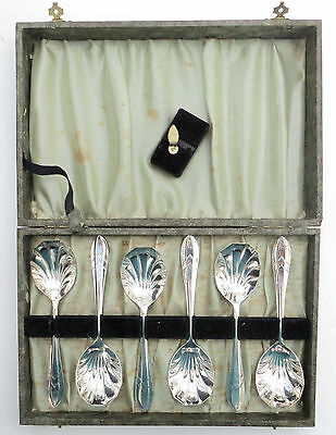 Set of 6 Antique English Yeoman Silver Plated Coffee/Tea Spoons