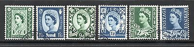 1967 Northern Ireland Scotland Wales 9d & 1/6d Fine Used NI4/6 S4/6 W4/6