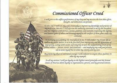 Army Commissioned Officer Creed Personalize with Name, Rank, Date