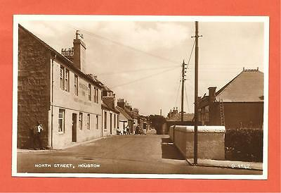 North Street, Houston, Nr Paisley, Renfrewshire, Scotland. Postcard.