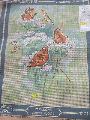 Butterfly Tapestry canvas by 'Margot' Creations de Paris  Lovely French Tapestry
