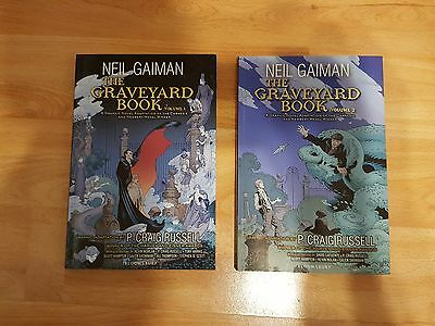 The Graveyard Books Graphic Novels Volumes 1 and 2