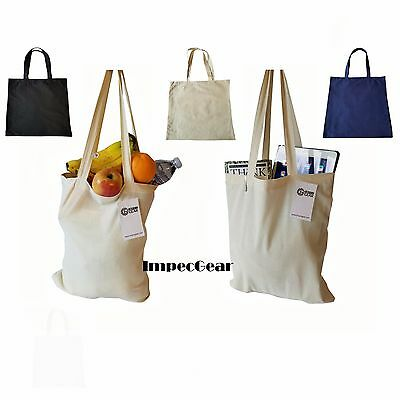 SET OF 60 - 100% Cotton Reusable Grocery Shopping Tote Totes Bag Bags WHOLESALE