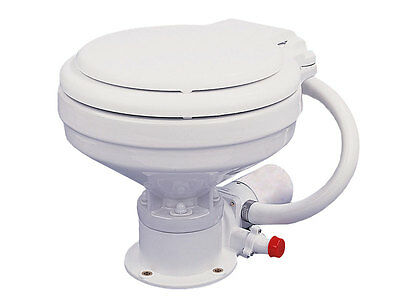 TMC Marine Electric Head Toilet Small Bowl -12V-Boat and RV-Five Oceans BC 720-1