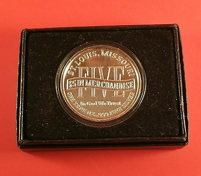 1 Oz Silver Round Scotsman Coin, St. Louis 1959 - 1998 In Box