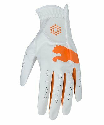 Puma Golf All Weather Glove - White / Orange - RRP£13 - LARGE ONLY