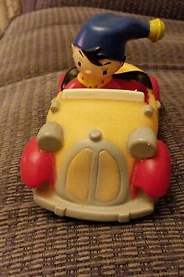 Vintage Noddy In Car Made Of Hard Plastic