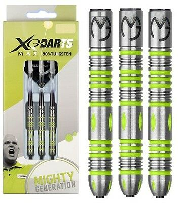 MICHAEL VAN GERWEN 25 gram XQ MIGHTY GENERATION 90% TUNGSTEN STEEL TIP DARTS
