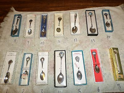 Mini Collectible commemorative spoons Lot of 14 Commemorating States  Events