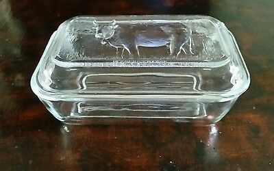 Vintage French Glass Butter Dish