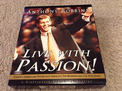 Anthony Robbins Live With Passion 6 CD Audiobook Audio Book Set