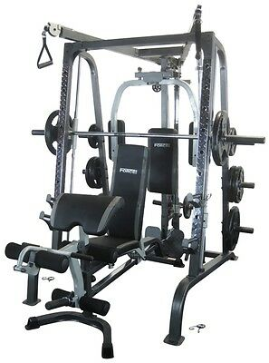 NEW Force USA F-SMC Smith Machine FID Bench Cable Crossover and Squat Rack, Tota