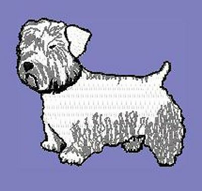 Sealyham Terrier standing Embroidery Patch