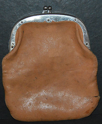 Antique Large Leather Coin Purse