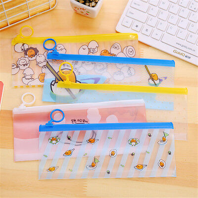 Cartoon Eggs Transparent Pen Bags Pencil Cases Student Stationery Writing Case