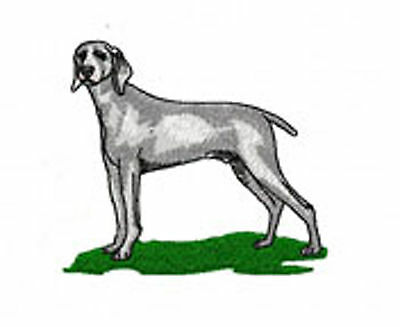 Weimaraner Embroidery Patch (full body) Mm