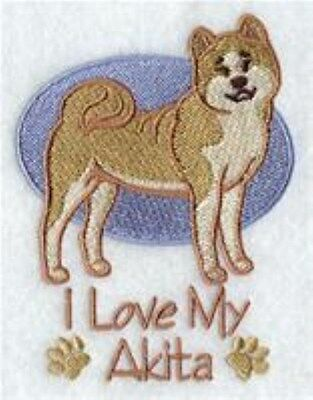 """Akita """"Love"""" Embroidery Patch Reg Size"""