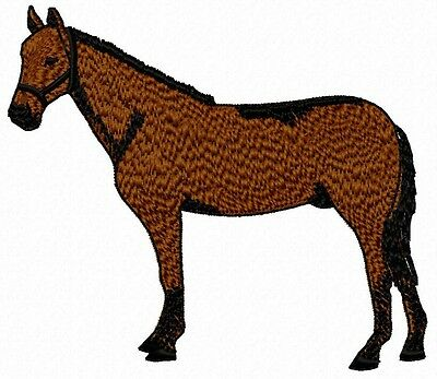 Bay Horse standing Embroidery Patch