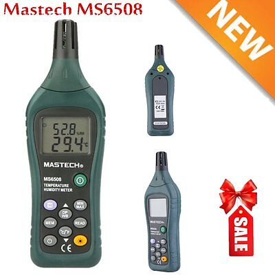 Mastech MS6508 (65-300) Ambient Temperature Humidity Meter, Web Bulb & Dew Point